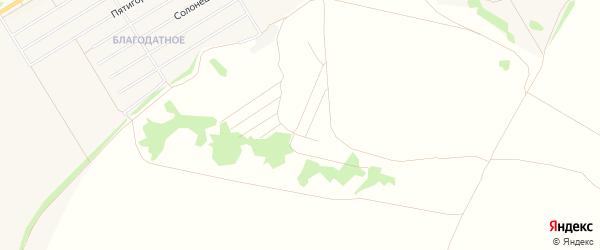 Карта территории сдт Барнаульского города Барнаула в Алтайском крае с улицами и номерами домов