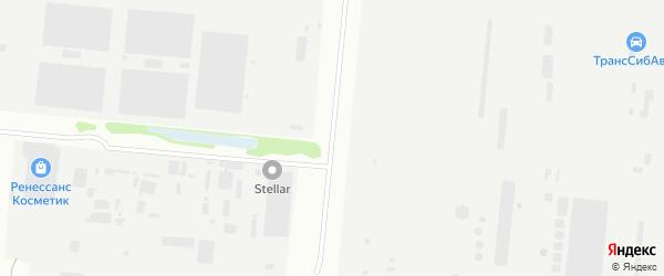 Звездная улица на карте Барнаула с номерами домов