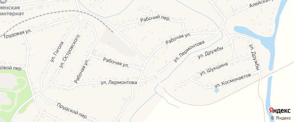 Рабочая улица на карте поселка Тальменки с номерами домов
