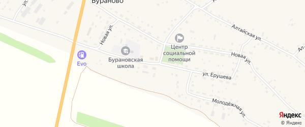 Улица Ерушева на карте села Бураново с номерами домов