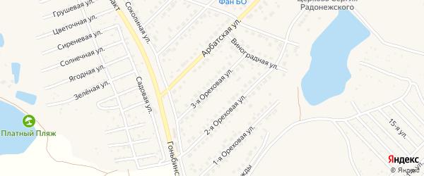 Ореховая 3-я улица на карте поселка Казенной Заимки с номерами домов