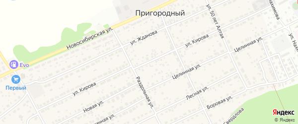 Улица Кирова на карте Пригородного поселка с номерами домов