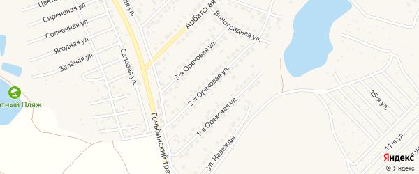 Ореховая улица на карте поселка Казенной Заимки с номерами домов