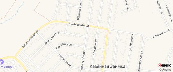 Улица Садовое Кольцо на карте поселка Казенной Заимки с номерами домов