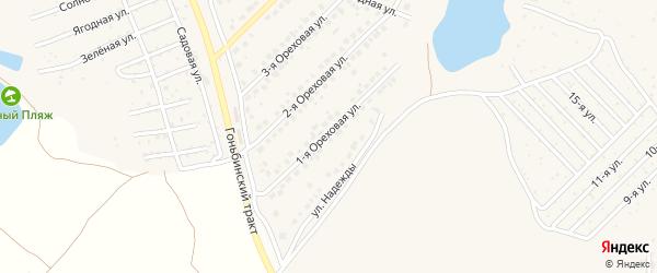 Ореховая 1-я улица на карте поселка Казенной Заимки с номерами домов