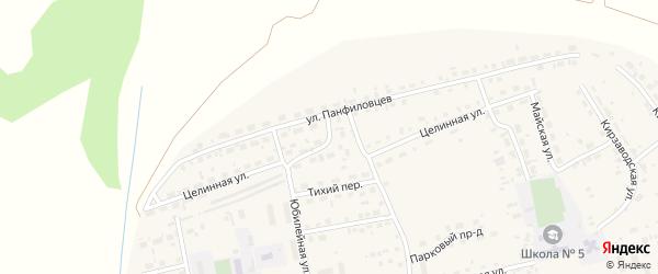 Целинная улица на карте поселка Тальменки с номерами домов