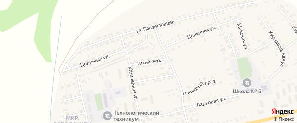 Тихий переулок на карте поселка Тальменки с номерами домов