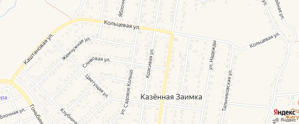 Красивая улица на карте поселка Казенной Заимки с номерами домов