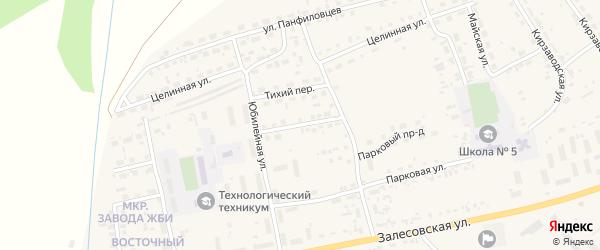 Кленовый переулок на карте поселка Тальменки с номерами домов