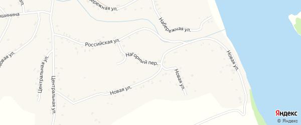 Нагорный переулок на карте села Калистратихи с номерами домов