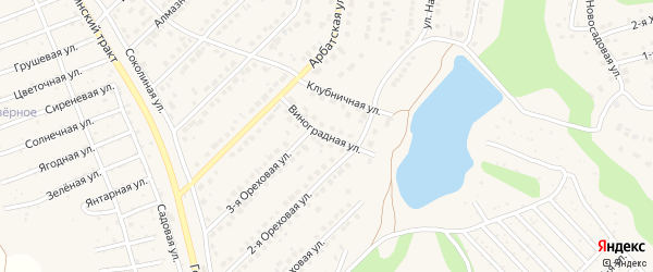Виноградная улица на карте поселка Казенной Заимки с номерами домов