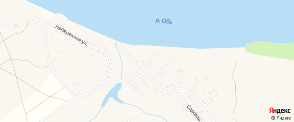 Обская улица на карте поселка Казенной Заимки с номерами домов