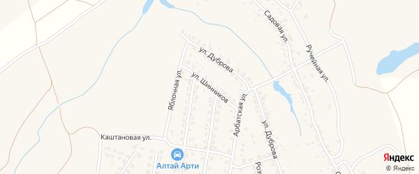 Улица Шинников на карте поселка Казенной Заимки с номерами домов