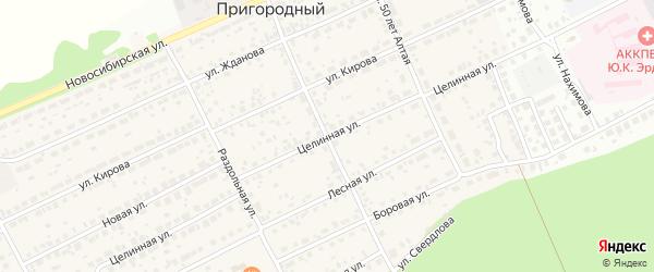 Улица Свердлова на карте Пригородного поселка с номерами домов