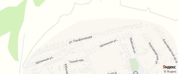 Улица Панфиловцев на карте поселка Тальменки с номерами домов