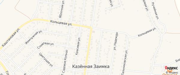 Арбатская улица на карте поселка Казенной Заимки с номерами домов