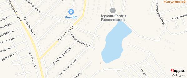 Улица Надежды на карте поселка Казенной Заимки с номерами домов