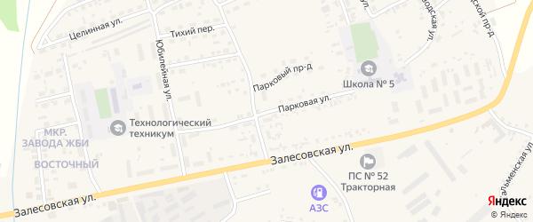 Парковая улица на карте поселка Тальменки с номерами домов