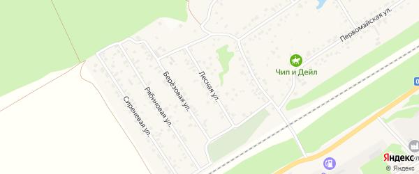 Лесная улица на карте поселка Ягодного с номерами домов