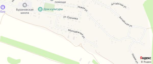 Молодежная улица на карте села Бураново с номерами домов