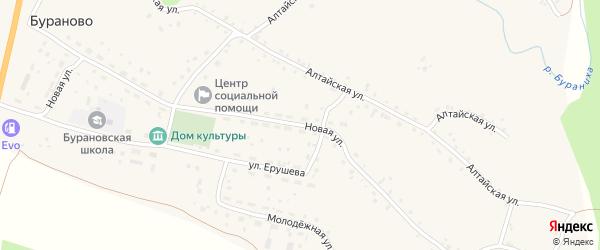 Новая улица на карте села Бураново с номерами домов