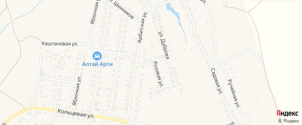 Медовый переулок на карте поселка Казенной Заимки с номерами домов