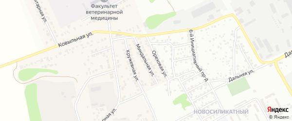 Миндальная улица на карте Пригородного поселка с номерами домов