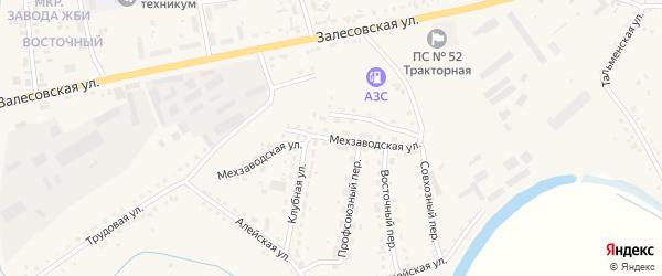 Мехзаводская улица на карте поселка Тальменки с номерами домов