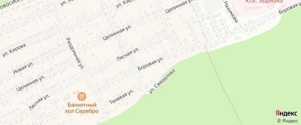 Боровая улица на карте Пригородного поселка с номерами домов