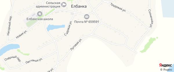 Луговая улица на карте села Елбанки с номерами домов