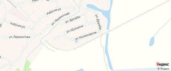 Улица Космонавтов на карте поселка Тальменки с номерами домов