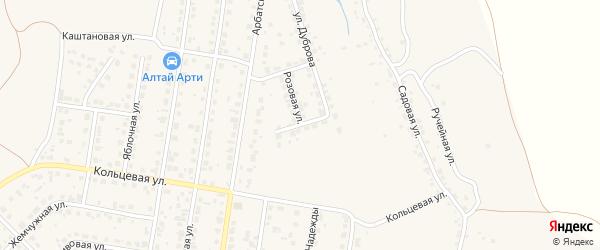 Грушевая улица на карте поселка Казенной Заимки с номерами домов