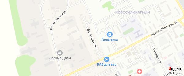Березовая улица на карте Пригородного поселка с номерами домов
