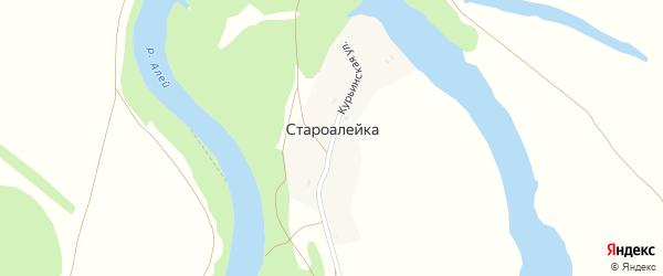 Курьинская улица на карте поселка Староалейки с номерами домов