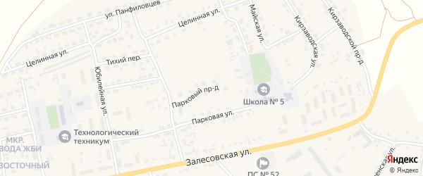 Парковый проезд на карте поселка Тальменки с номерами домов
