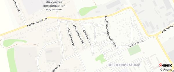 Ореховая улица на карте Барнаула с номерами домов