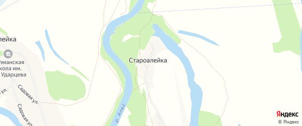 Карта поселка Староалейки в Алтайском крае с улицами и номерами домов