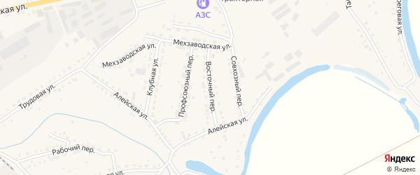 Восточный переулок на карте поселка Тальменки с номерами домов