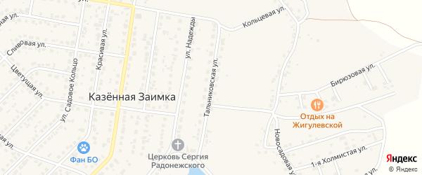 Тальниковская улица на карте поселка Казенной Заимки с номерами домов