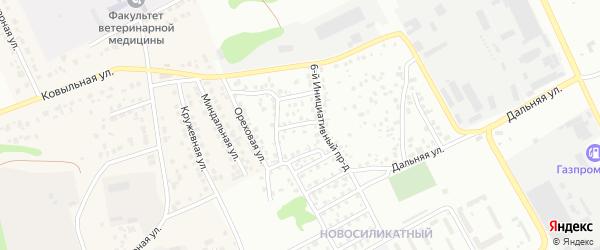 Инициативный 5-й проезд на карте Барнаула с номерами домов
