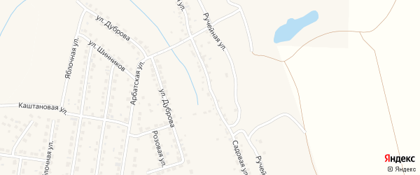 Садовая улица на карте территории сдт Озерного с номерами домов