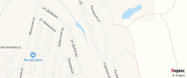 Садовая улица на карте поселка Казенной Заимки с номерами домов