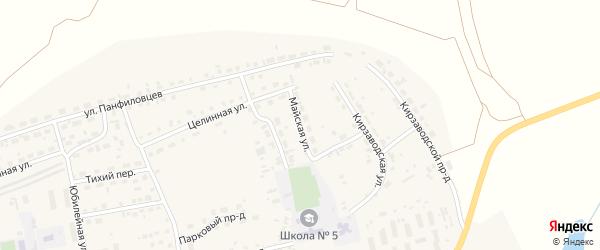 Майская улица на карте поселка Тальменки с номерами домов