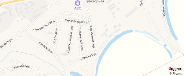 Совхозный переулок на карте поселка Тальменки с номерами домов