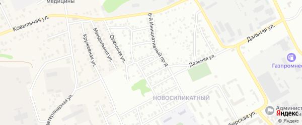 Инициативный 4-й проезд на карте Барнаула с номерами домов