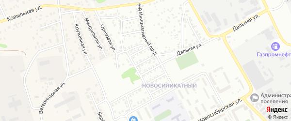 Инициативный 8-й проезд на карте Барнаула с номерами домов