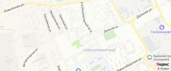 Инициативный 3-й проезд на карте Барнаула с номерами домов