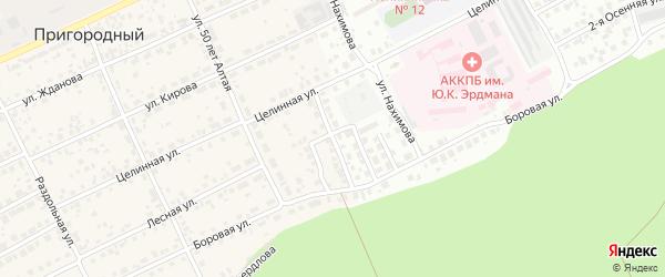 Пограничный проезд на карте Барнаула с номерами домов