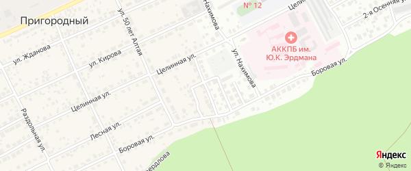Пограничный проезд на карте Пригородного поселка с номерами домов