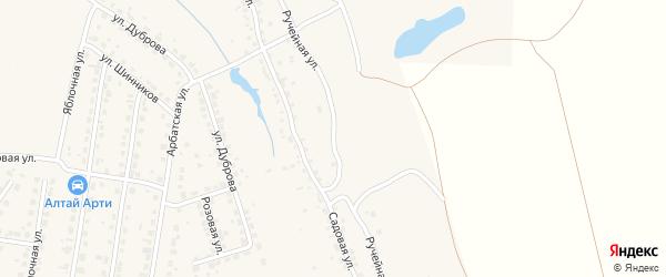 Ручейная улица на карте поселка Казенной Заимки с номерами домов